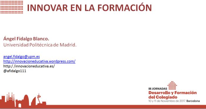 Innovación Formativa en los Colegios de Administradores de Fincas ...